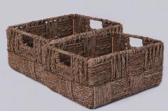 Úložný box KIM 34, vodný hyacint, natur, 2ks