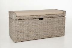 Sedacie lavice s úložným priestorom COMBO, ratan, šírka 105 cm, odtieň White Was