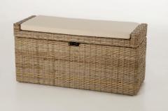 Sedacie lavice s úložným priestorom COMBO, ratan, šírka 105 cm, odtieň Koobo