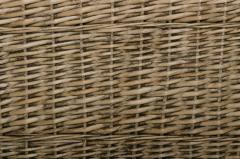 Elegantná truhla na bielizeň GRAND, vŕba, výška 60 cm, sivá