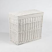 Elegantná truhla na bielizeň GRAND, vŕba, výška 60 cm, biela