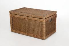 Elegantný truhla na bielizeň JAVA, ratan, šírka 88 cm, natur
