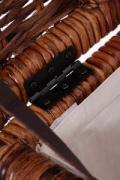 Ratanový koš na bielizeň, MIA, 50 cm, hnedá