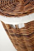Okrúhly kôš na bielizeň LINGO, 62 cm, hnedý