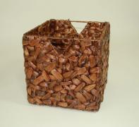 Úložné krabice vodný hyacint WILD DESIGN, hnedá barva, 2 ks